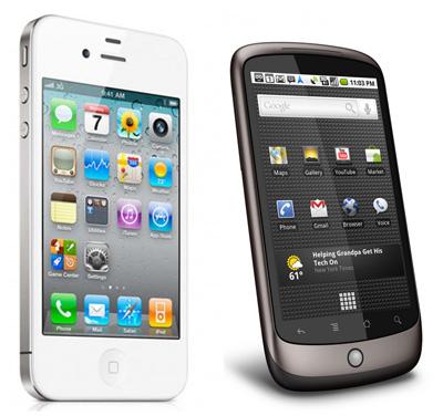 iPhoneとAndroidの比較