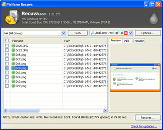 フリー復元ソフト