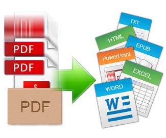 PDFをEPUB、HTML、画像ファイルに変換