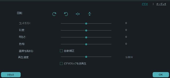 画像データを動画にする 回転